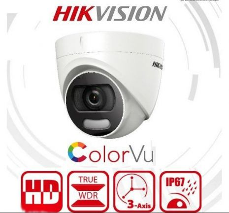 Hikvision DS-2CE72DFT-F(/C)2 MP ColorVu Fixed Turret Camera